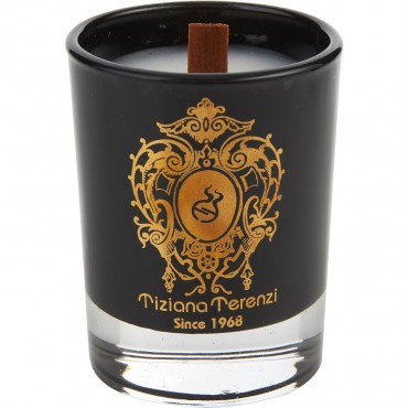 Tiziana Terenzi Almond Vanilla - Scented Black Glass Candle 1.4 oz