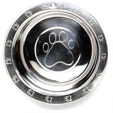 Spot Stainless Steel Embossed Rim Pet Dish - 32 oz 7.3 Diameter