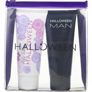 Halloween Variety - Body Lotion 3.4 oz W And All Over Shower Gel 3.4 oz M Vanity Case