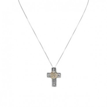 16.5 in. Cross and Ancient Coin Necklace