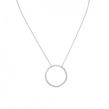 16 in. Textured Circle Necklace