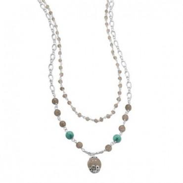 Baila Luna Labradorite Drop Necklace