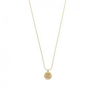 14 Karat Gold Plated Love You To The Moon And Back Necklace