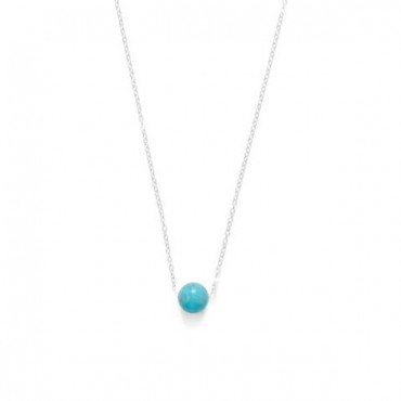 16 in. + 2 in. Floating Blue Magnesite Bead Necklace