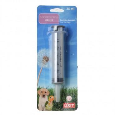 Lixit Hand Feeding Syringe for Baby Animals - 35 ml Hand Feeding Syringe - 4 Pieces