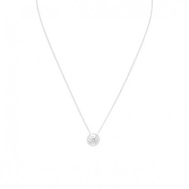 16 in. Necklace with 5mm Bezel Set CZ