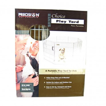 Precision Pet Silver Choice Exercise Pen Model SXP - 30 Tall and 4 x 4 Square