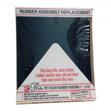 Pride Pet Doors Rubber Assembly Replacement Pet Door Flap - X-Large 21.5 Long x 16.5 Wide