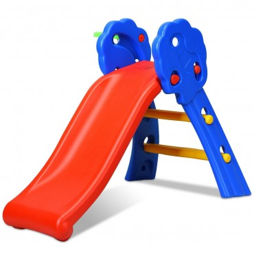 2 Step Children Folding Slide With Basketball Hoop