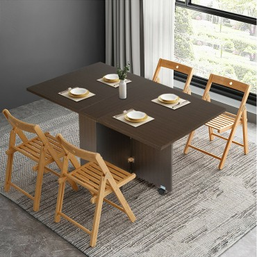 3 In 1 Folding Dining Table With Casters
