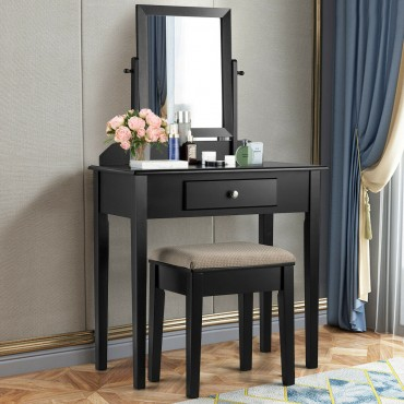 Vanity Dressing Table Set With Large Drawer And Mirror