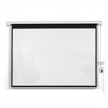 New 100 In. 16:9 HD Foldable Electric Motorized Projector Screen + Remote