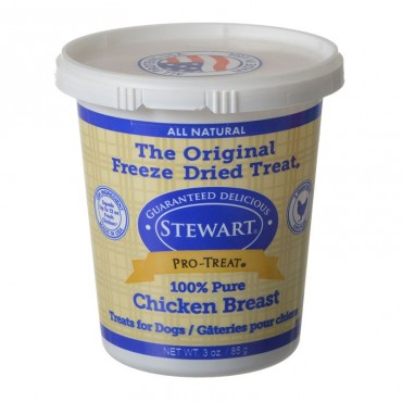 Stewart Pro-Treat Freeze Dried Dog Treats - 100 percent Pure Chicken Breast - 3 oz