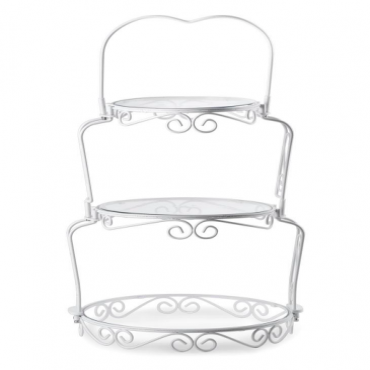 3 Tier White Wire Display Stand