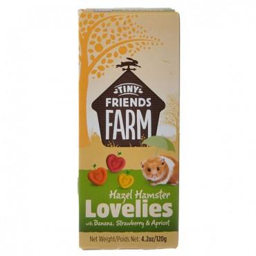 Tiny Friends Farm Hazel Hamster Lovelies with Banana, Strawberry and Apricot - 4.2 oz - 5 Pieces