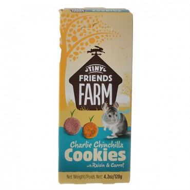 Tiny Friends Farm Charlie Chinchilla Cookies with Raisin and Carrot - 4.2 oz - 5 Pieces