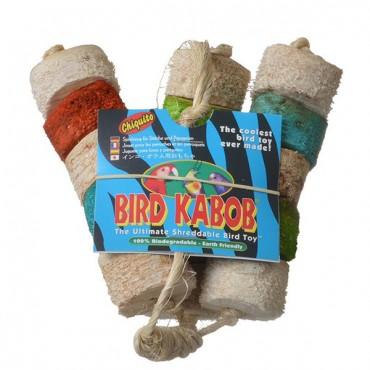 Wesco Bird Kabob Shreddable Bird Toy - Chiquito - 4.5 in. Long x 11 in. High