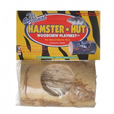 Wesco Pet Hamster Hut Woodchew Playnest - 4.5 in. Long x 2.75 in. High - 2 Pieces