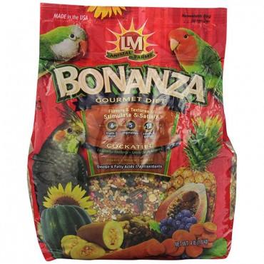 LM Animal Farms Bonanza Cockatiel Gourmet Diet - 4 lbs