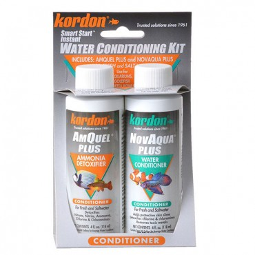 Kordon NovAqua + AmQuel Start Smart Instant Water Conditioning Kit - 4 oz - 2 Pieces