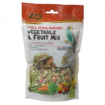 Zilla Small Animal Munchies - Vegetable and Fruit Mix - 4 oz