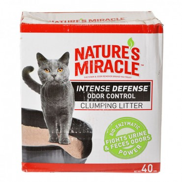 Nature's Miracle Intense Defense Odor Control Clumping Litter - 40 lbs