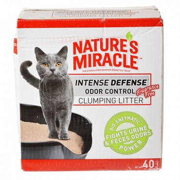 Nature's Miracle Intense Defense Odor Control Clumping Litter - Unscented - 40 lbs