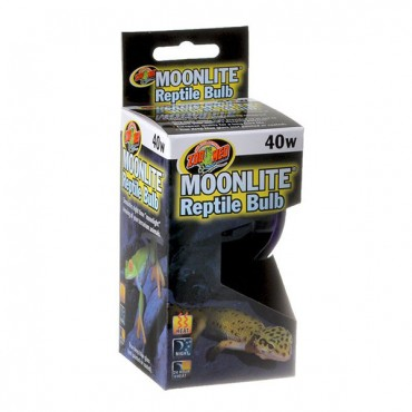 Zoo Med Moonlight Reptile Bulb - 40 Watts - 2 Pieces