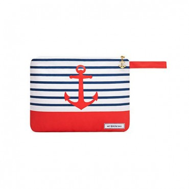 Waterproof Wet Bikini And Swimsuit Bag - Red Anchor