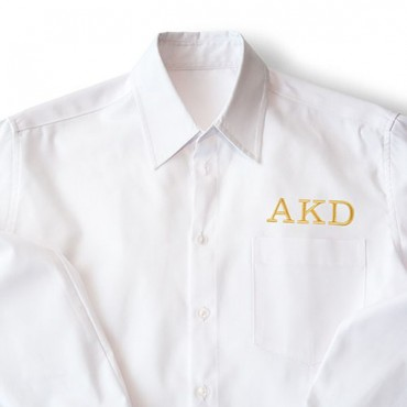 Personalized Embroidered Casual Bridesmaid Cotton Button Down Shirt - White Monogram