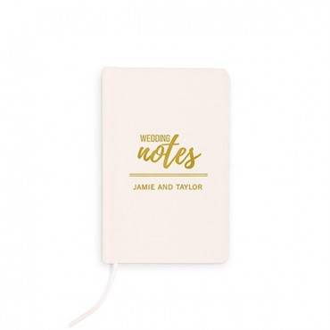 Ivory Linen Pocket Journal - Wedding Notes Emboss