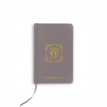 Charcoal Linen Pocket Journal - Note Book Emboss