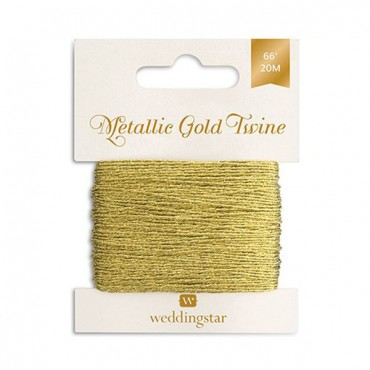 Metallic Gold Twine - 4 Pieces