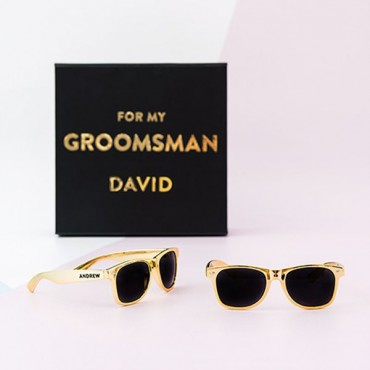 Cool Favor Sunglasses - Metallic Gold - 2 Pieces