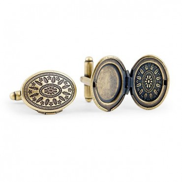 Love Locket Cufflinks - Antique Gold