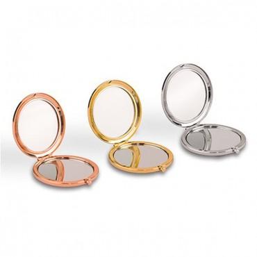 Personalized Silver Rainbow Glitter Compact Mirror