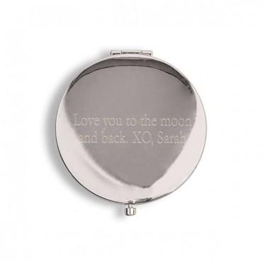 Designer Compact Mirror - Glitter Foil Print