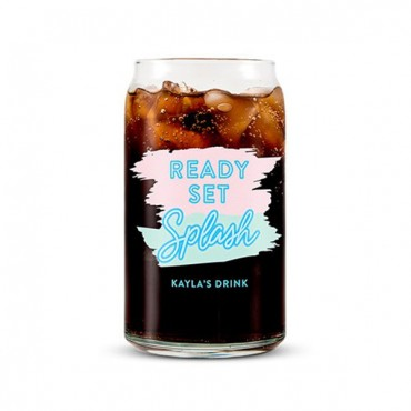 Can Shaped Glasses Personalized - Ready Set Splash Print.