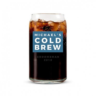Can Shaped Glass Personalized - Cold Brew Print