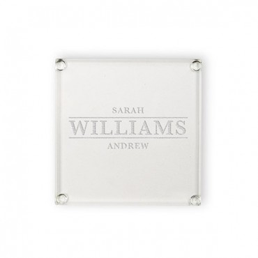 Personalized Class Coaster - Classic Serif Font