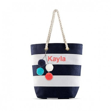 Small Pom Pom Tassel For Tote Bag - Multicolor