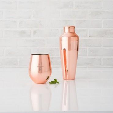 Copper Cocktail Shaker - Monogram Initial