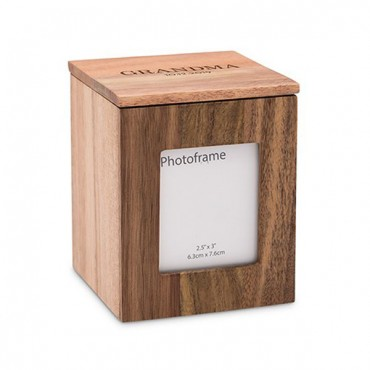Wood Keepsake Box With Frame - Classic Font Etching