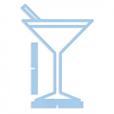 Acrylic Tropical Martini - Tabletop Decoration In Pastel Blue