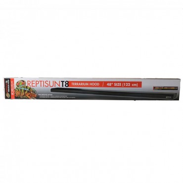 Zoo Med Reptisun T8 Terrarium Hood - 48 in. Fixture without Bulb - 48 in. Bulb Required