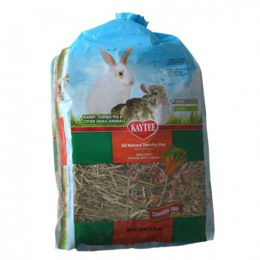 Kaytee Timothy Hay Plus Carrots - 48 oz