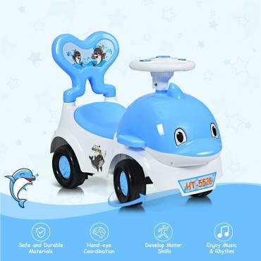 3 - In - 1 Baby Walker Sliding Car Pushing Cart Toddler Ride
