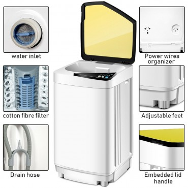 Full-Automatic Washing Machine 10 lbs Washer / Spinner Germicidal