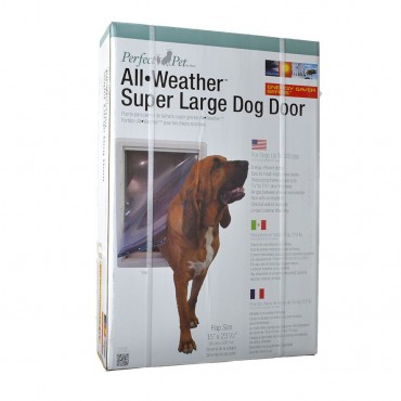 Perfect Pet All Weather Pet Door - Super Large - 15W x 23.5H