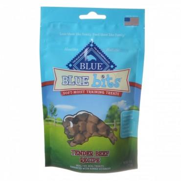 Blue Buffalo Blue Bits Soft - Moist Training Treats - Tender Beef Recipe - 4 oz